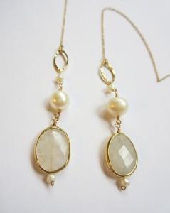 Fresh-water pearl earrings