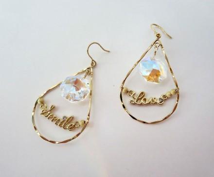 K14GF Chandelier Swarovski earrings 1
