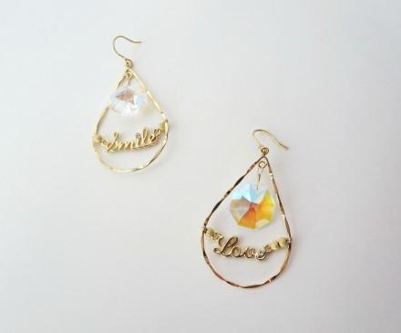 K14GF Chandelier Swarovski earrings 2